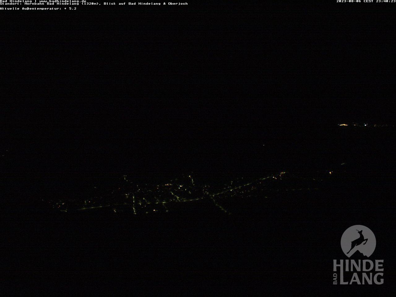 Webcam an der Hindelanger Hornbahn - Ausblick von der Bergstation Hornbahn (1.320 Meter) auf Bad Hindelang und Oberjoch